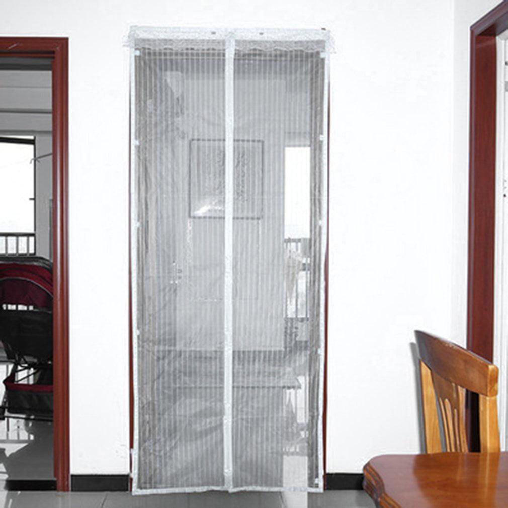 Cnmodle Hands Free Mesh Magnetic Screen Door 35 X 83 Fit Doors