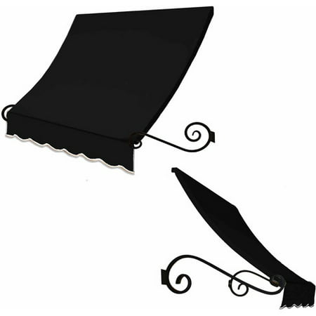 Awntech Charleston Scrilled Arms Window/Door (Black Awning)