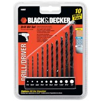 Black & Decker Drill Bit Set, 10pc