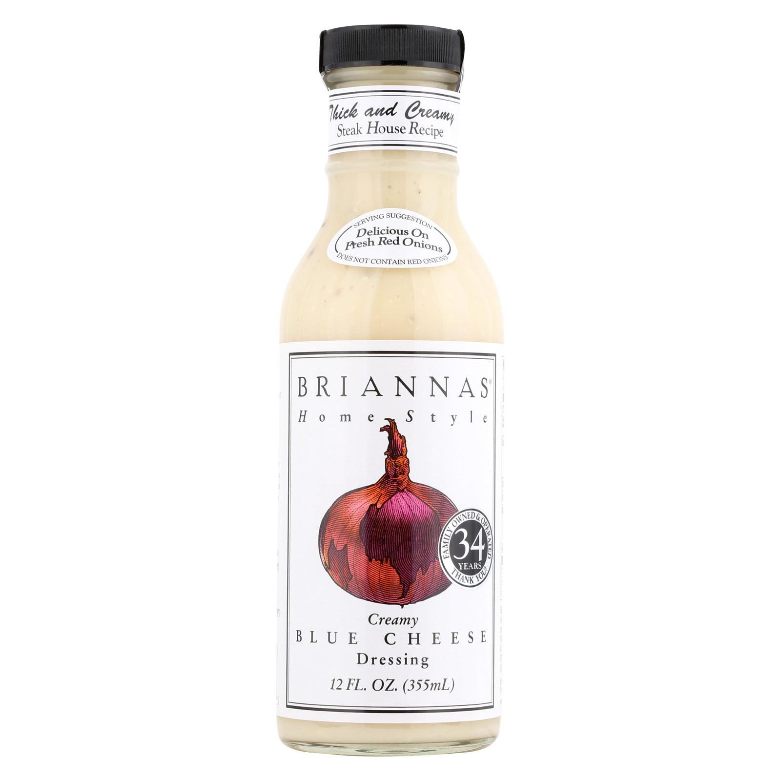 Brianna's Salad Dressing Creamy Blue Cheese Case of 6 12 Fl oz. by