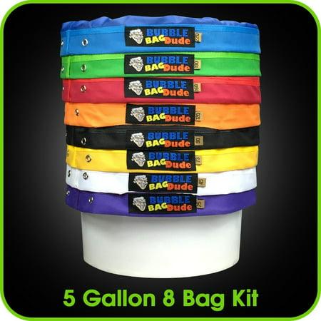 BUBBLEBAGDUDE 5 Gallon 8 Bag Kit comes with Pressing Screen and Storage (Bag Kit Screen)