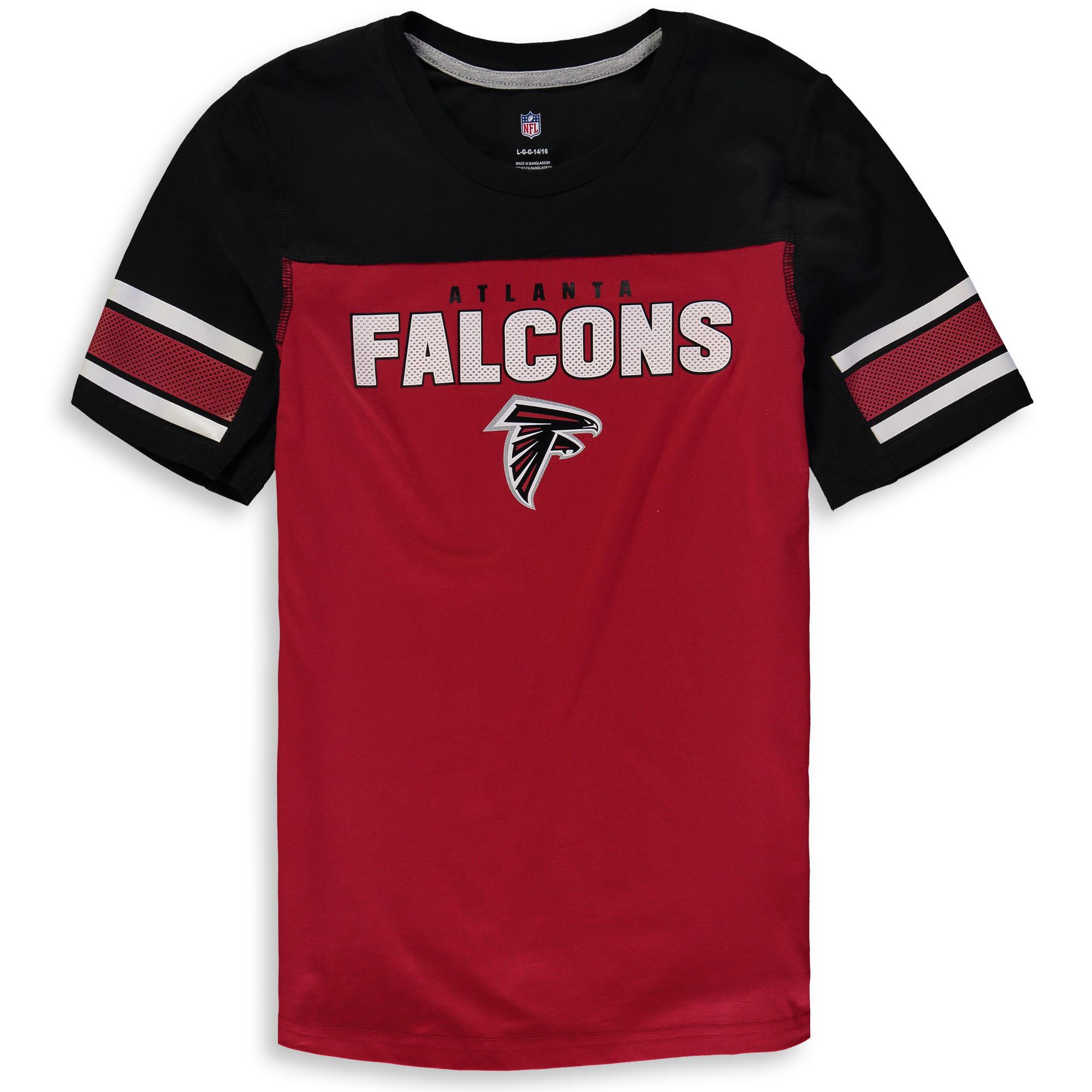 Atlanta Falcons Youth 50-Yard Dash T-Shirt - Red/Black