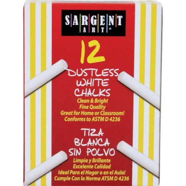 Inc.  3.25 x .375 in. Sargent School Gr Dustless Chalk  White