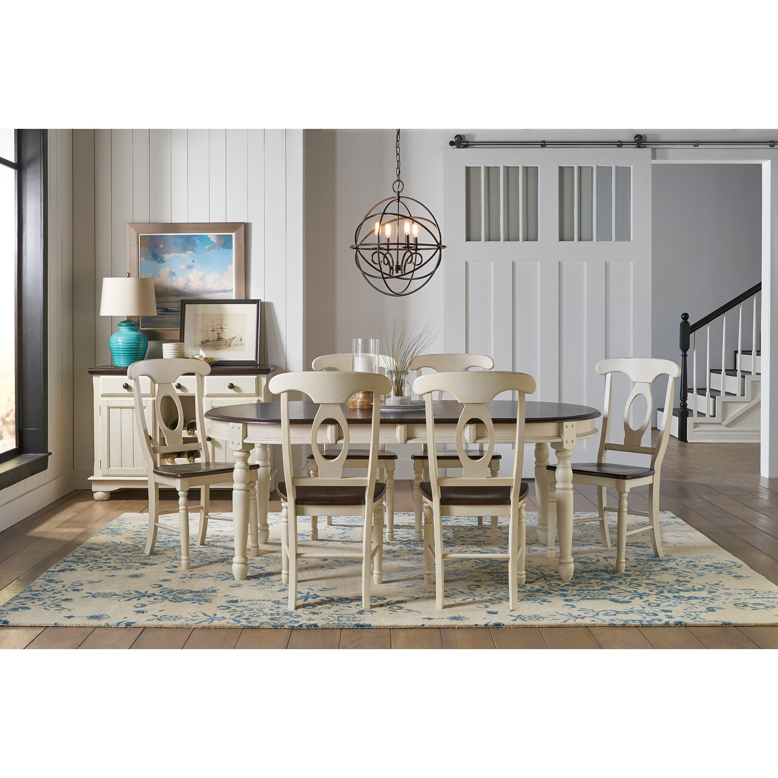 A-America British Isles 76 in. Oval Leaf Dining Table