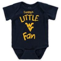 West Virginia Mountaineers Infant Daddy's Little Fan Creeper - Navy