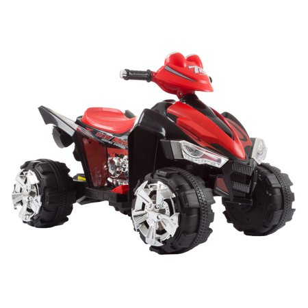 Ride On Toy Quad, Battery Powered Ride On Toy ATV Four Wheeler With Sound Effects by LilÂ' Rider– Toys for Boys and Girls, 2 - 5 Year Olds (Black/Red) ()