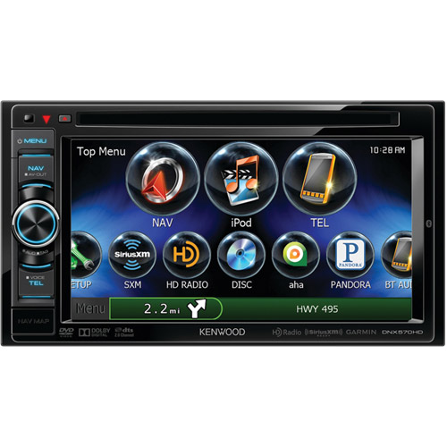 """Kenwood DNX570HD 6.1"""" WVGA Double-DIN In-Dash DVD Receiver with Navigation and Bluetooth"""