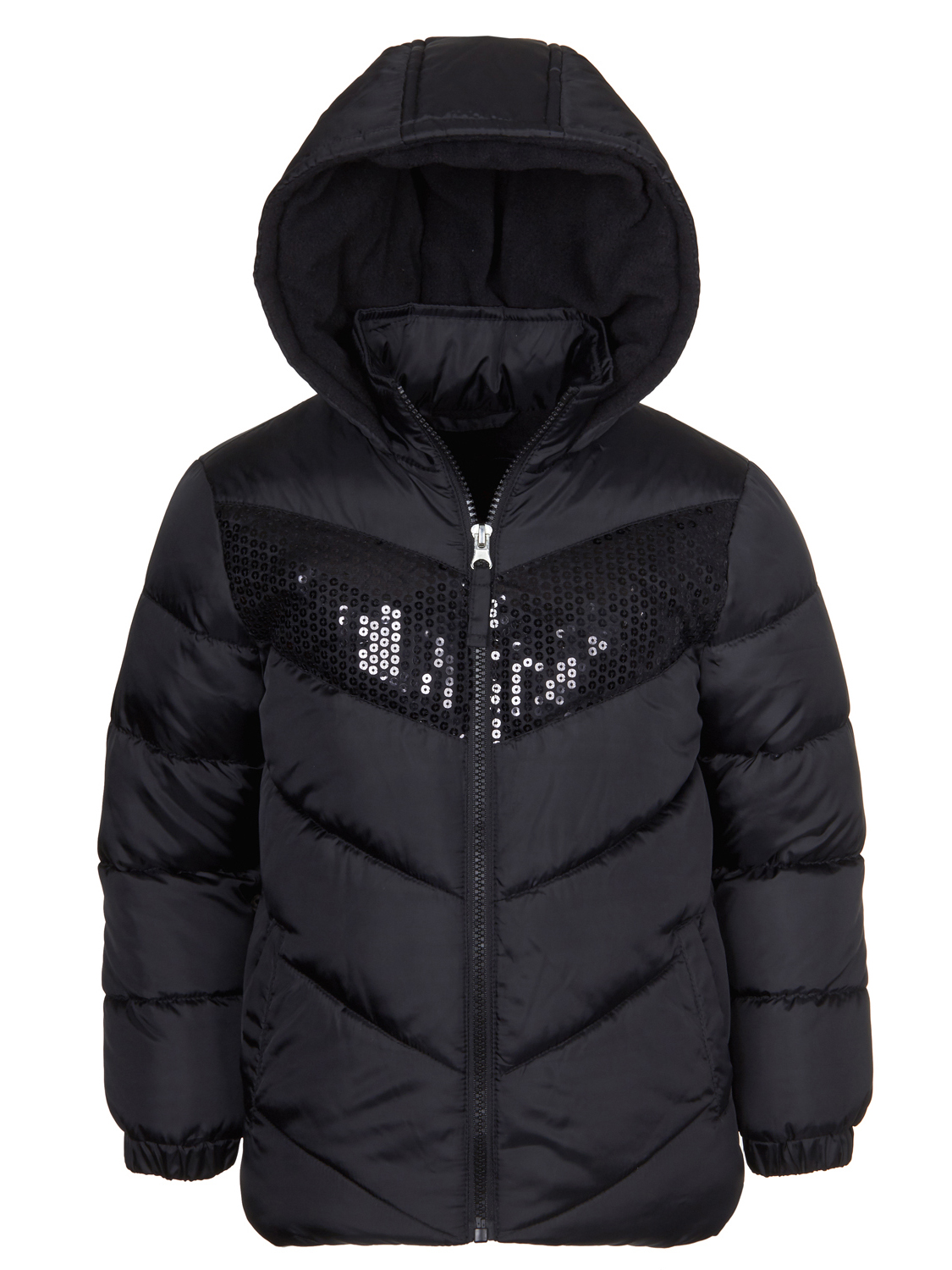 Product Image Sequin Hooded Puffer Jacket (Little Girls \u0026 Big Girls) Little Coats Jackets - Walmart.com