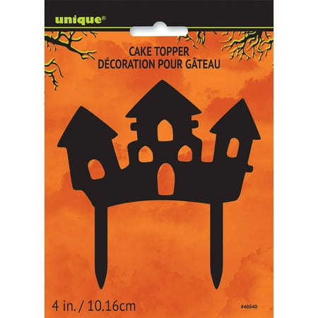 Plastic Haunted House Halloween Cake - Simple Halloween Cake Decorations
