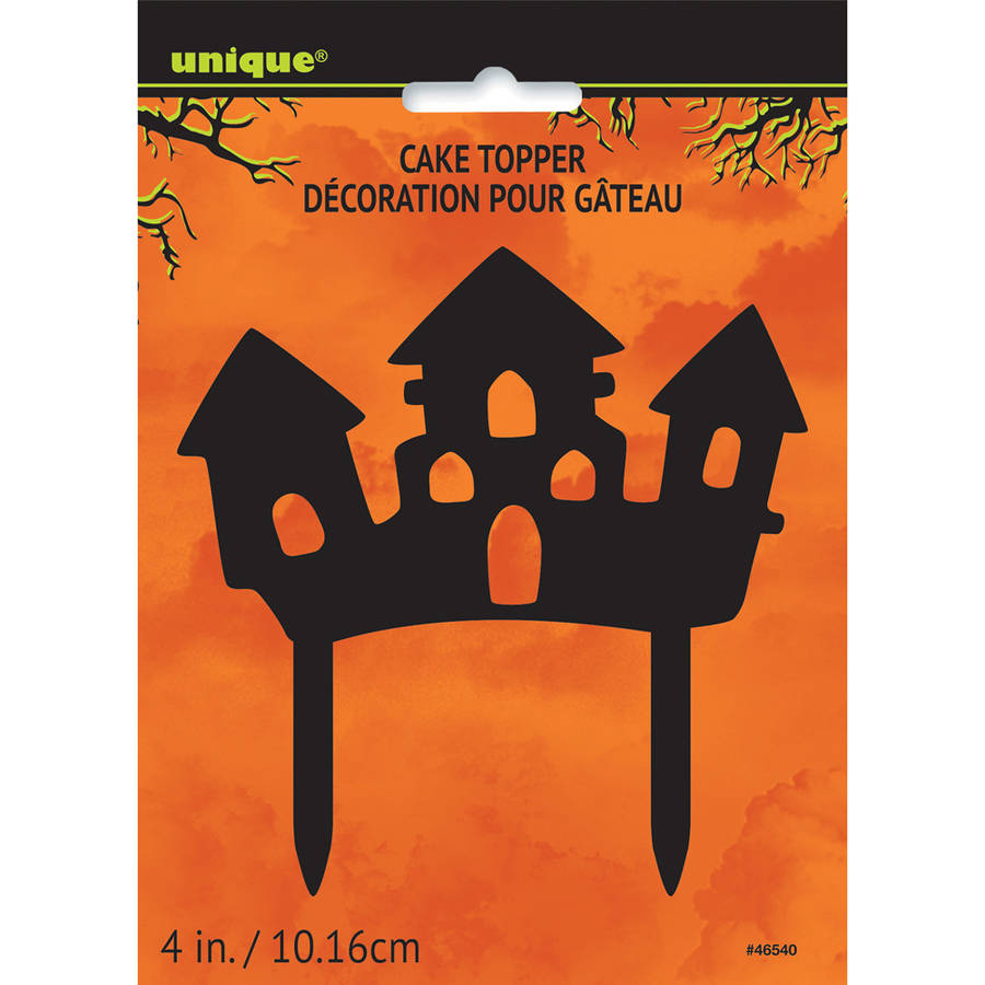Plastic Haunted House Halloween Cake Topper
