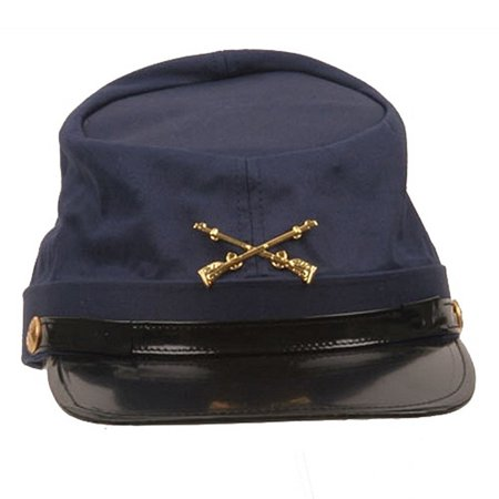 Army Hat Costume (Federal Union Army Soldier Cotton Hat Navy Kepi Cap Civil War Costume)