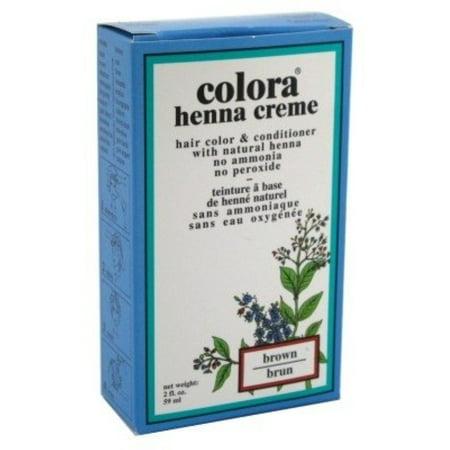 Colora Henna Creme Hair Color Brown, 2 oz