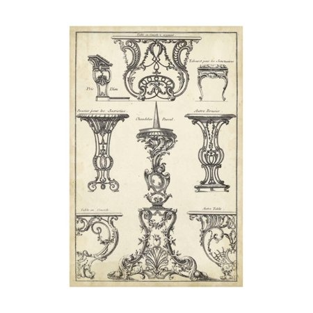 Antique French Ornament I Print Wall Art By J.F. - Antique French Art