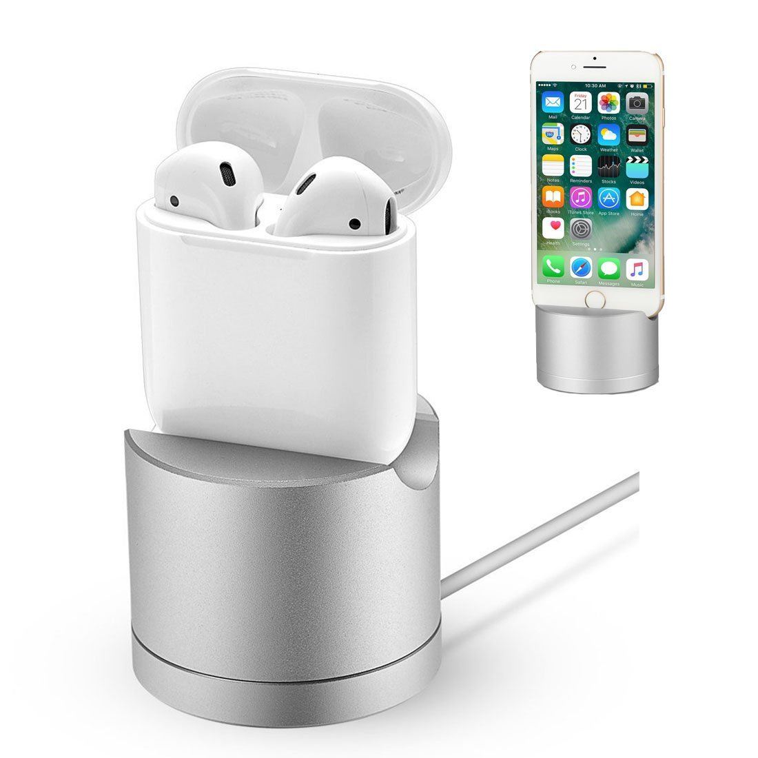 Zakaco Charging Dock Stand for Apple Airpods Wireless Blu...