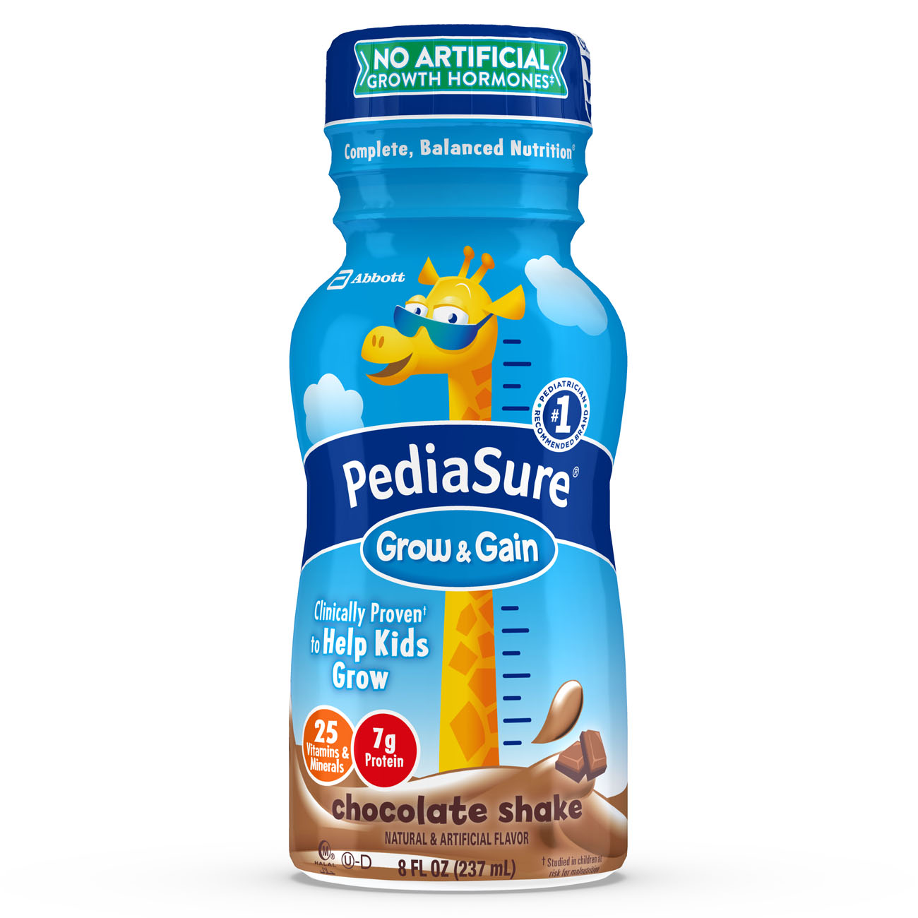 PediaSure Grow & Gain Nutrition Shake For Kids, Chocolate, 8 fl oz