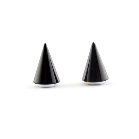 Unisex Magnetic Black Spike Gothic Cone Non-Piercing Clip On Stud