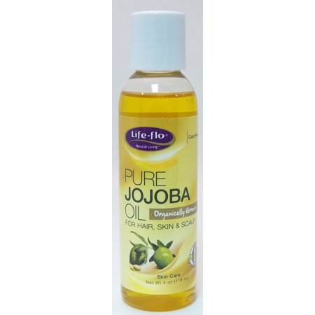 Pure Jojoba Oil Natural Life Flo Health Products 4 fl oz Liquid