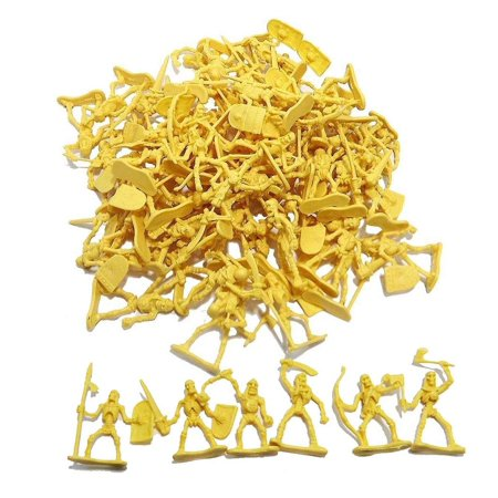 100 Piece Army Skeleton Battle Warrior Figures