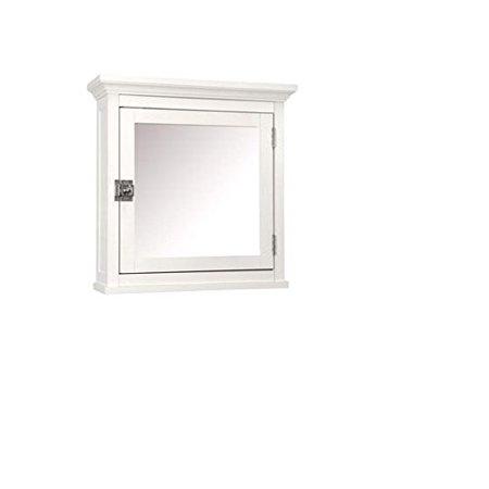 (Classic White Wood Bathroom Medicine Cabinet, Glass Mirror, Adjustable Shelf, Bathroom, Organize Toiletries, medicine cabinet By Classy Collection)