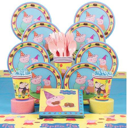 Peppa Pig Birthday Party Deluxe Tableware Kit Serves 8