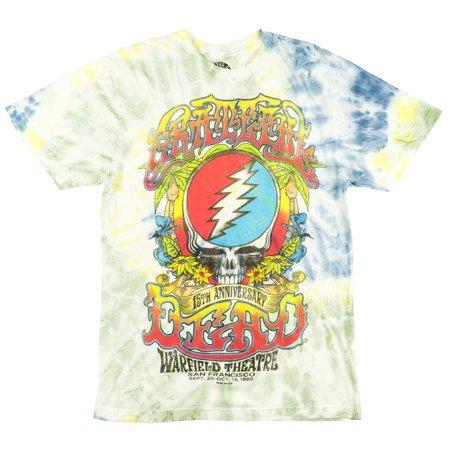 Grateful Dead 15Th Anniversary T Shirt Tie Dye Deadhead Mens