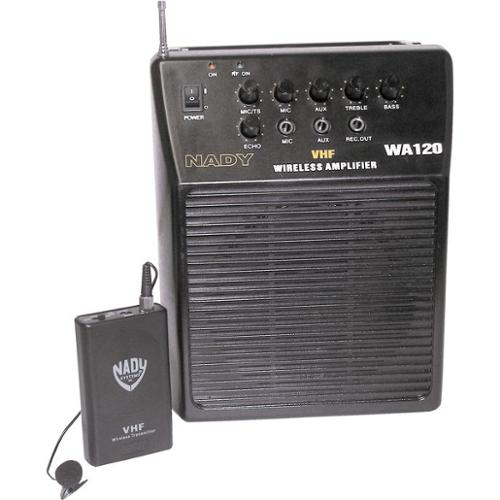 Nady WA 120 Portable PA System with Wireless Omni-Lavalier Mic Channel R