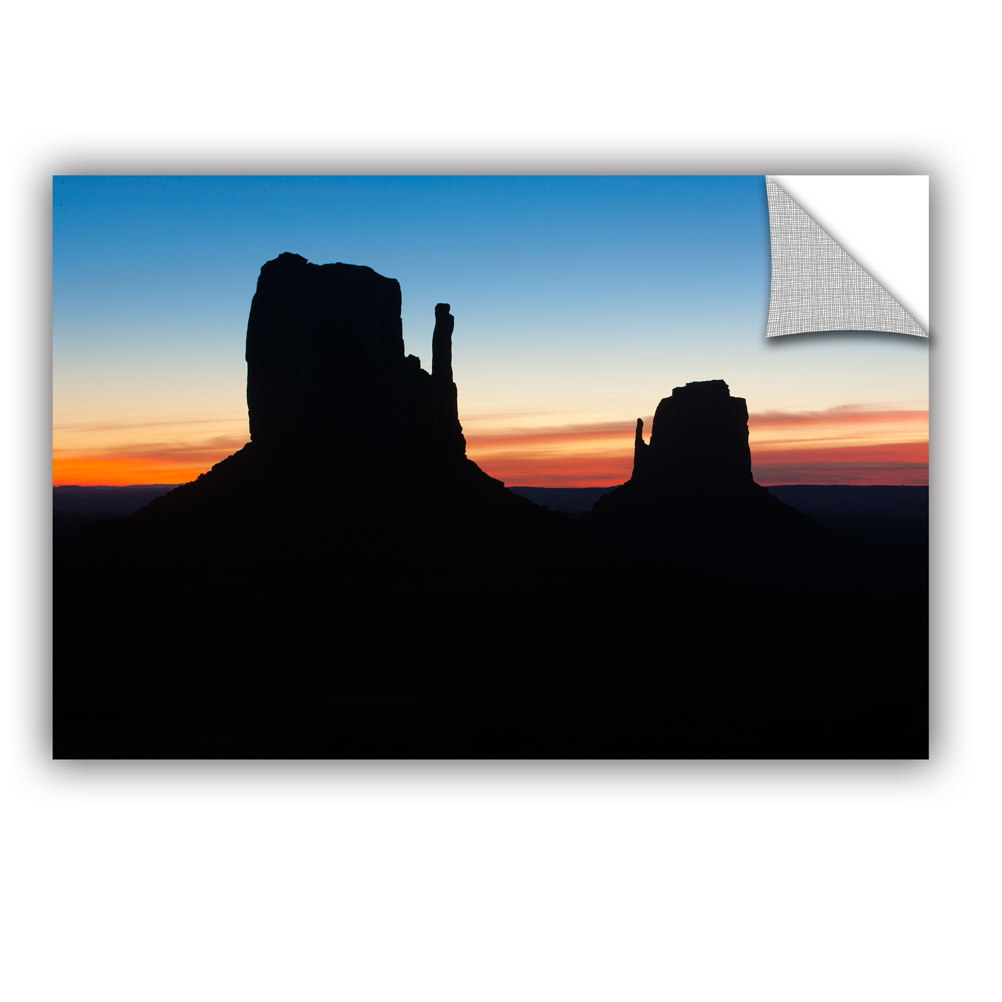 Monument Valley Mittens Silhouette