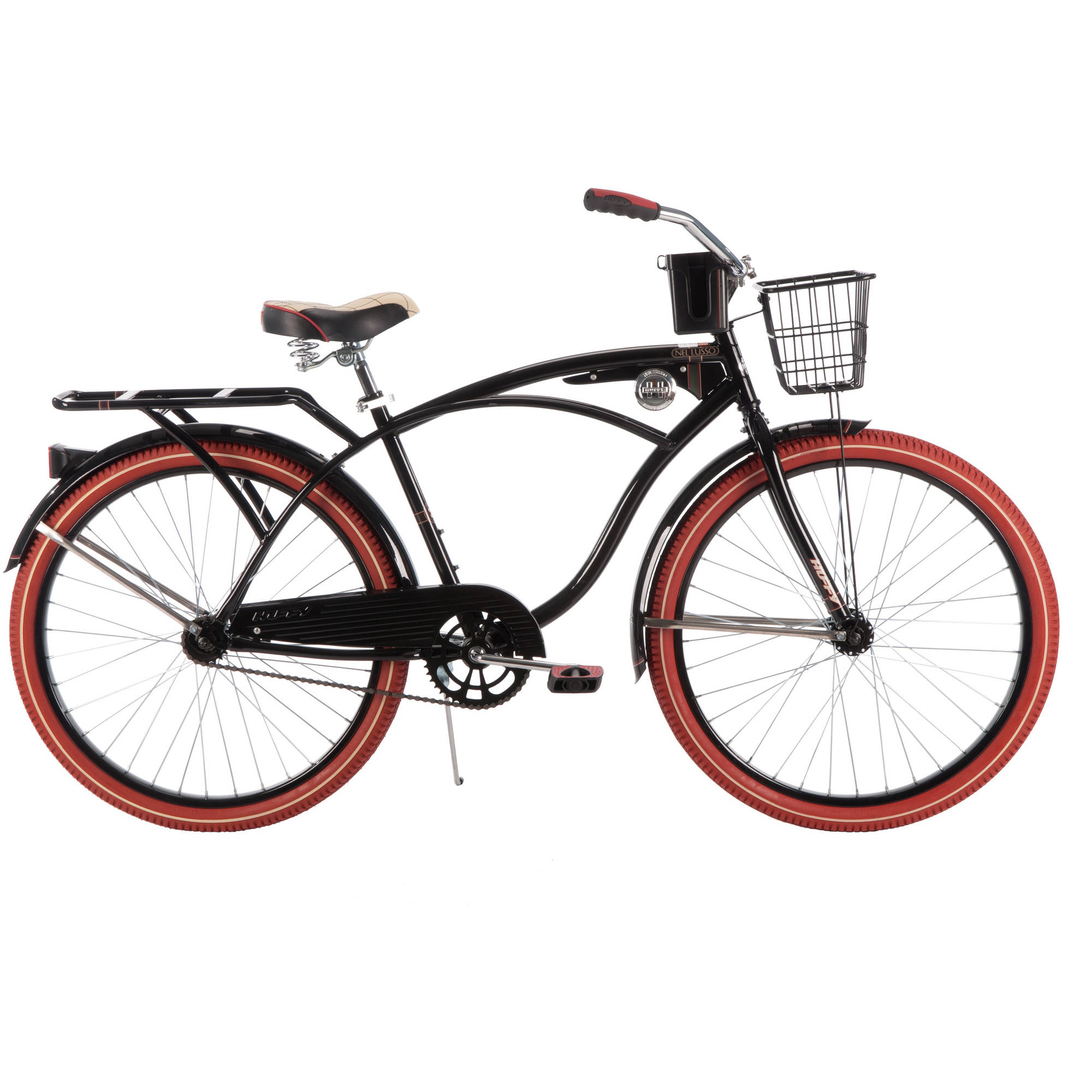 "26"" Huffy Men's Nel Lusso Cruiser Bike, Black"