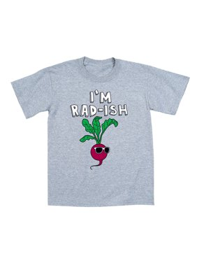 I'm Rad-ish Funny Radish Sunglasses Food Kids Cool Humor Novelty-Youth T-Shirt