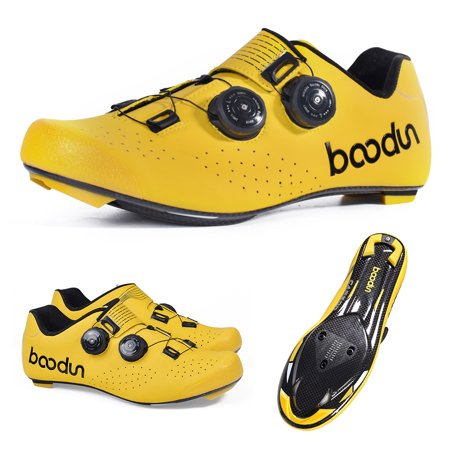 Road Cycling Shoe Ultralight Carbon Fiber Road Bike Athletic Riding Shoes Breathable Auto-Lock Bike Bicycle Shoes