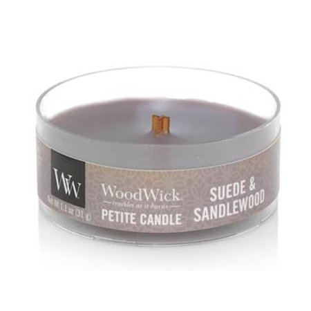 SUEDE SANDALWOOD - WoodWick 1.1 oz Scented Candles Scented Sandalwood Fan