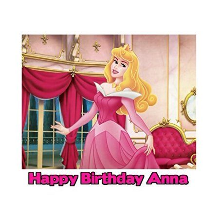 Sleeping Beauty Princess Aurora Image Photo Cake Topper Sheet Personalized Custom Customized Birthday Party - 1/4 Sheet - 76857