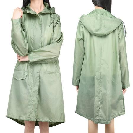 Holiday Clearance Womens' Waterproof Lightweight Raincoat Hooded Girls Outdoor Hiking Long Rain Jacket (Best Light Rain Jacket Hiking)