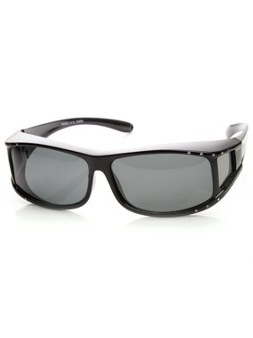 6670cce374a Product Image Womens Rectangle Polarized Lens Cover Wrap Sunglasses with  Side Lens - 8882