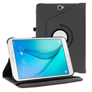 Galaxy Tab A 10.1 Case, Fits SM-P580 (S-PEN Version, 2016) KIQ PU Leather Case Cover, Multi-View, Swivel, Stand, Protective Tablet Cover for Samsung Galaxy Tab A 10.1 P580 P585 (Black)