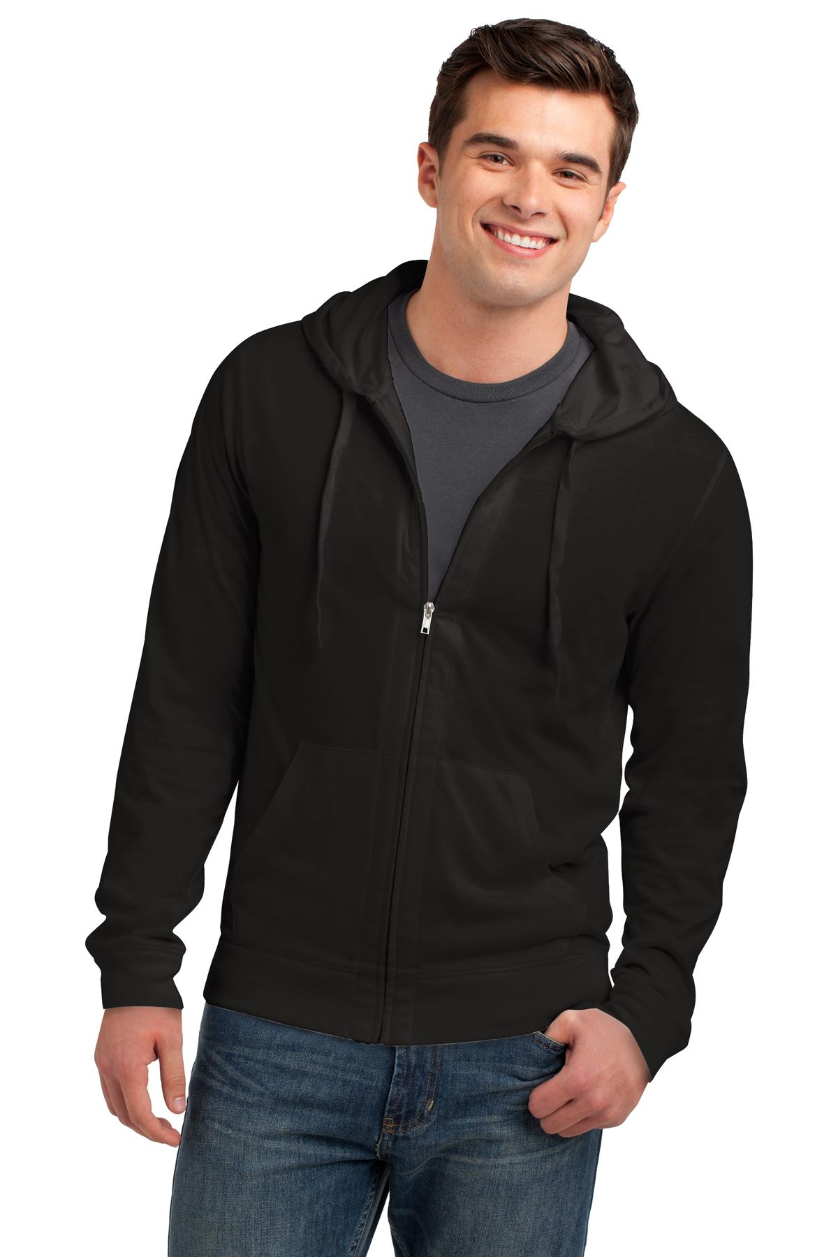 District Young Mens Jersey Full-Zip Hoodie