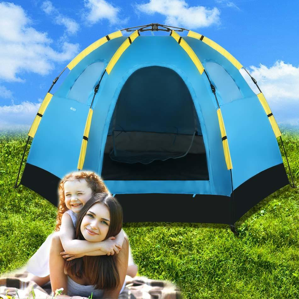 Waterproof Instant Camping Tent with Carrying Bag for 5-8 Persons by