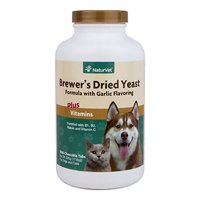 NaturVet Brewer's Yeast & Garlic Chewable Tablets, 1000 Chewable Tablets