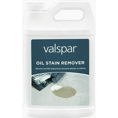 Valspar oil stain remover for Concrete stain remover