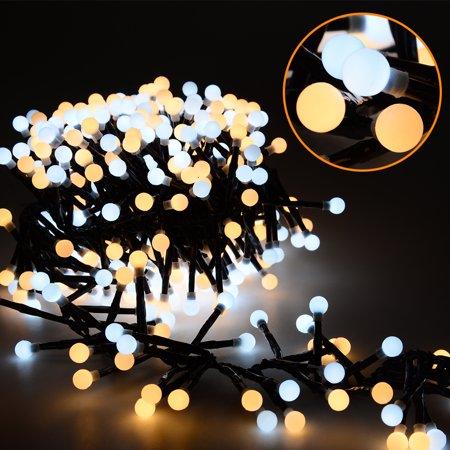 Globe String Lights, 26ft 400 LEDs Waterproof Christmas Lights, 8 Modes Outdoor Indoor Decorative Fairy (400 Outdoor Lighting)