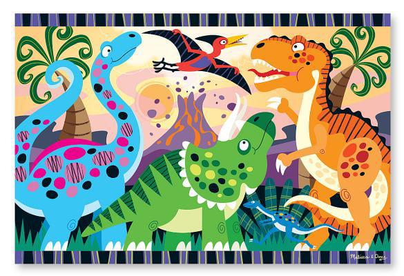 Melissa & Doug Dinosaur Dawn Jumbo Jigsaw Floor Puzzle (24 pcs, 2 x 3 feet) by Melissa & Doug