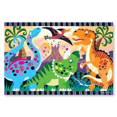 Melissa & Doug Dinosaur Dawn Jumbo Jigsaw Floor Puzzle (24 pcs, 2 x 3 feet) Construction Duty Floor Puzzle