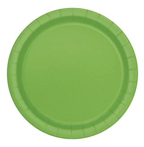 Paper Plates, 7 in, Lime Green, 20ct