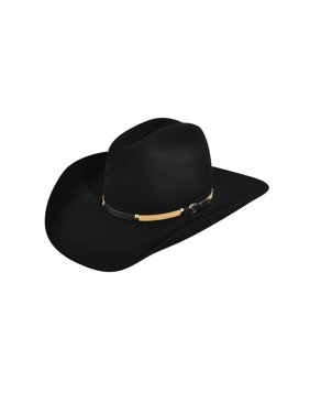 Product Image Bailey Western Cowboy Hat Mens Reno Wool Leather Hatband  W1402D 7e759ce67ef1