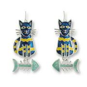 Zarah 01-13-Z1 Calypso Cat-Fish Silver Plate Earrings