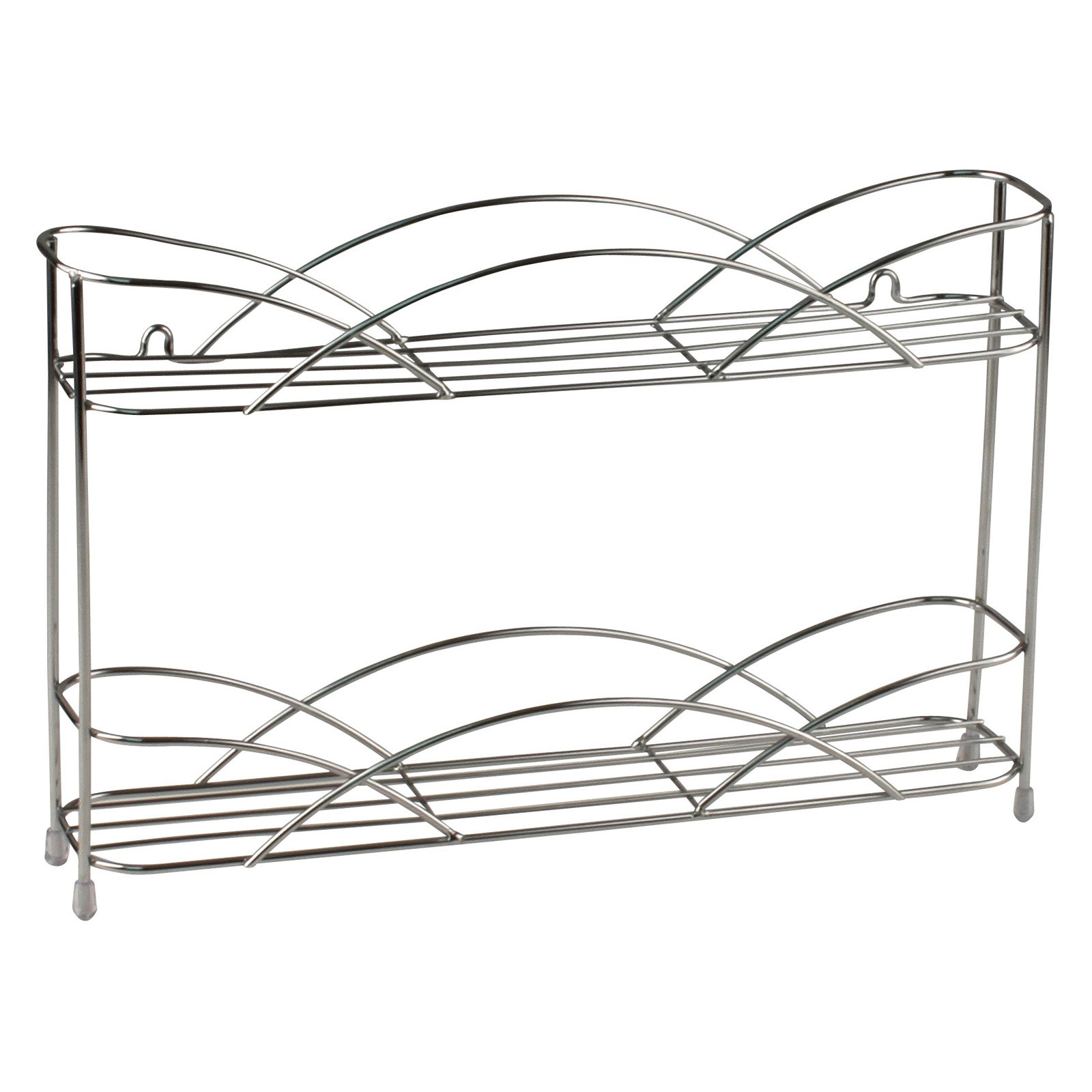 Spectrum Diversified Countertop and Wall Mount 2 Tier Spice Rack by