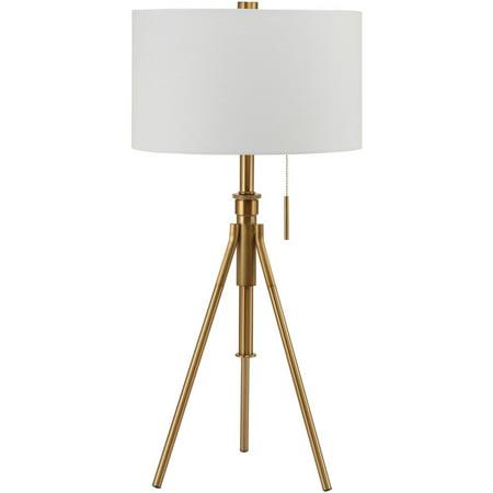 Mid Century Adjustable Tripod Table Lamp Gold Walmart Com