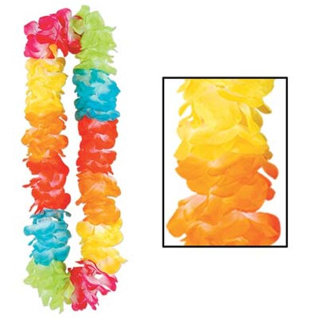 Beistle - 50395 - Silk N Petals Double-Soft Lei- Pack of 12