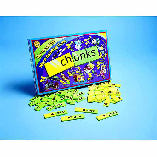 Didax Chunks The Incredible Word Building Game, Green and Yellow, Set of 140