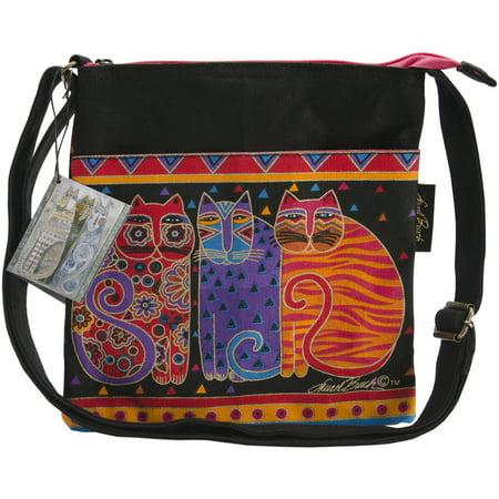 Top Loading Shoulder Bag - Laurel Burch Crossbody Purse Zipper Top 10